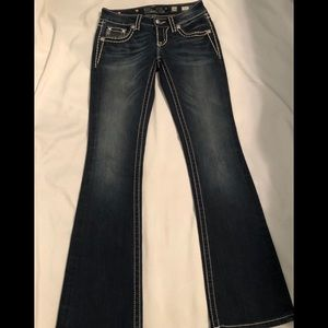 Miss Me Jeans Boot Dark Wash Thick Stitched 26